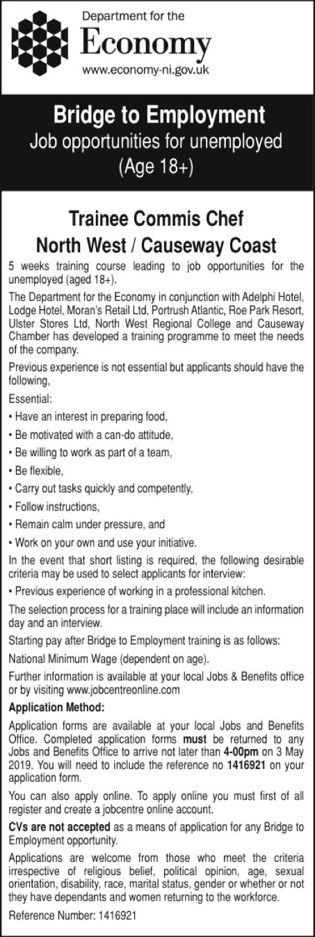 Bridge to Employment - Situations Vacant